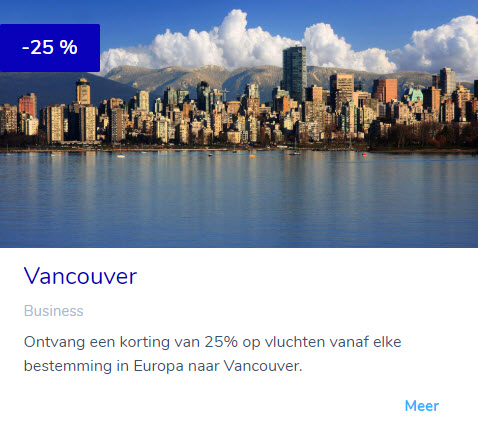 Flying Blue Promo Vancouver