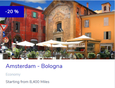 KLM Flying Blue Promo Reward - Bologna