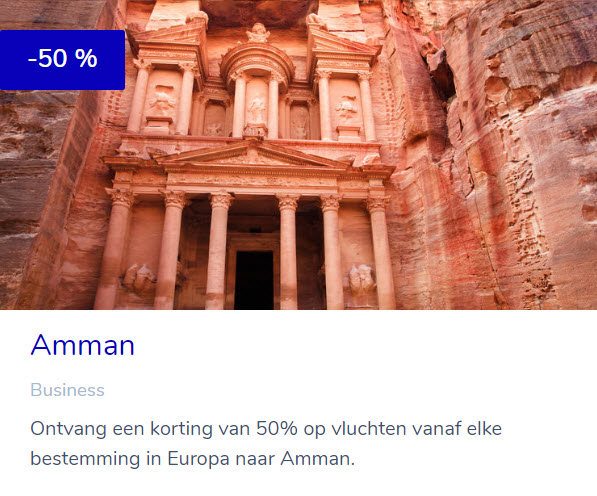 KLM Flying Blue Promo Rewards - Amman