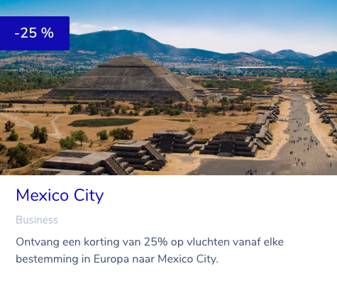 KLM promo reward ticket Mexico City